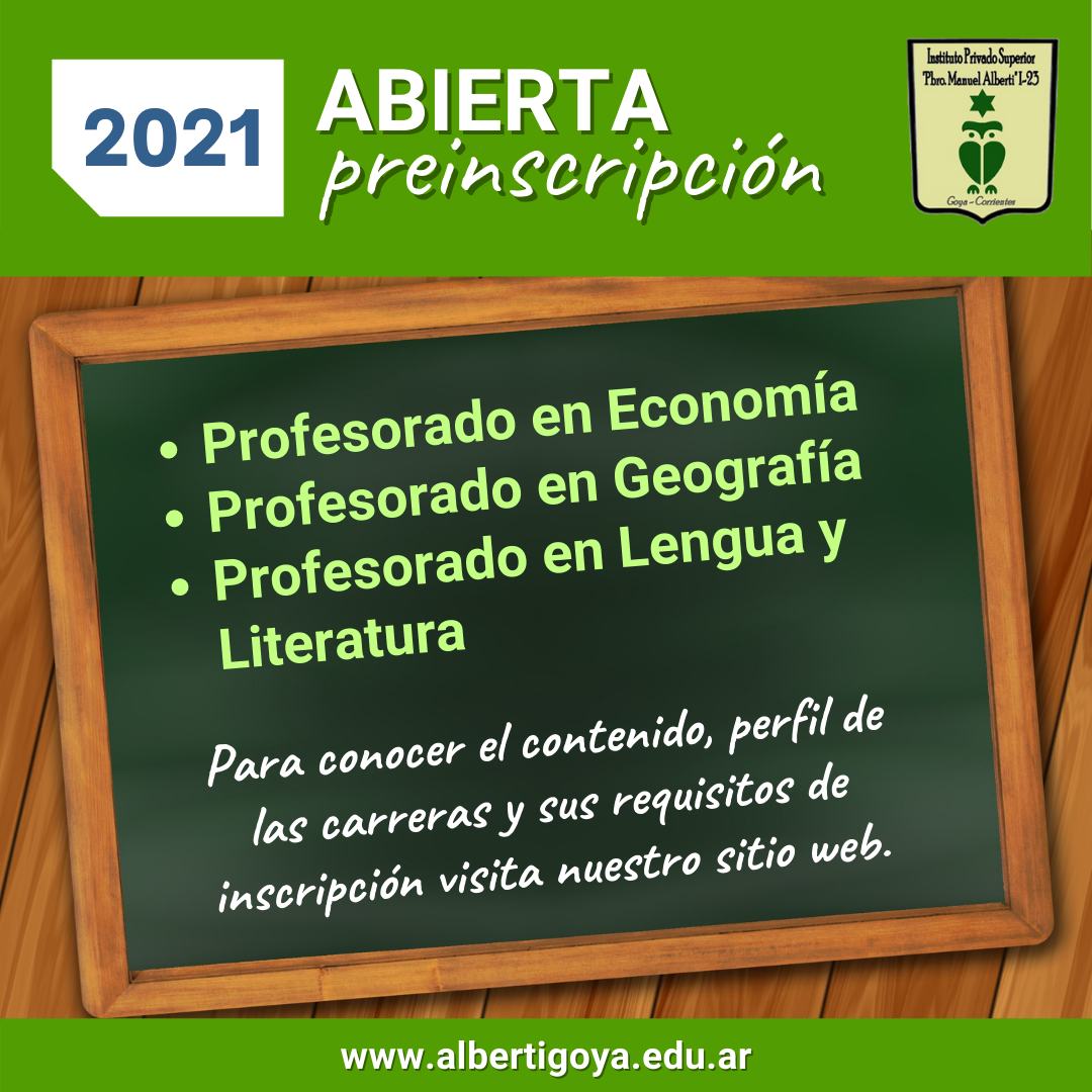 Pre inscripción - Requisitos 2021